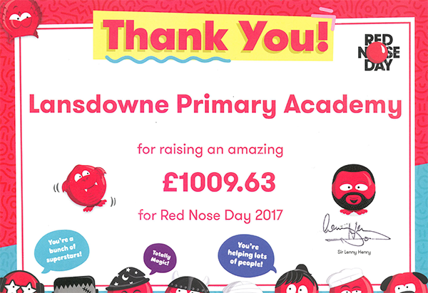LPA Red Nose Day Certificate