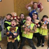 Pupils build their own bears...