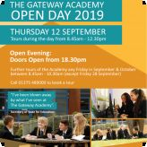The Gateway Academy Open Day September 12th 2019